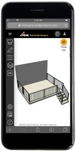 Balustrade Designer 3D mobile mockup